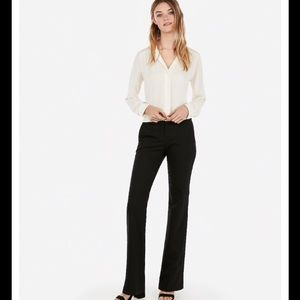 NWT Express Editor Flare Pant Black Size 2 Career